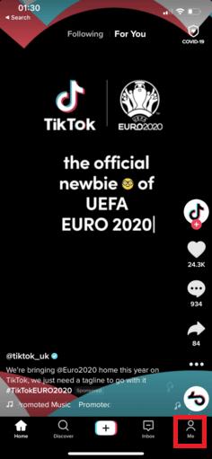 TikTok account settings